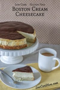 Keto Boston cream pie