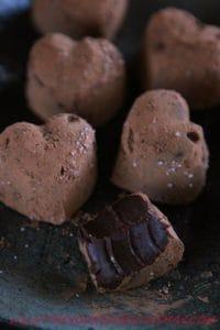 chocolate keto truffles fat bombs