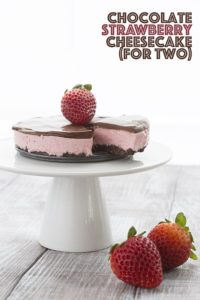 low card strawberry chocolate dessert for two