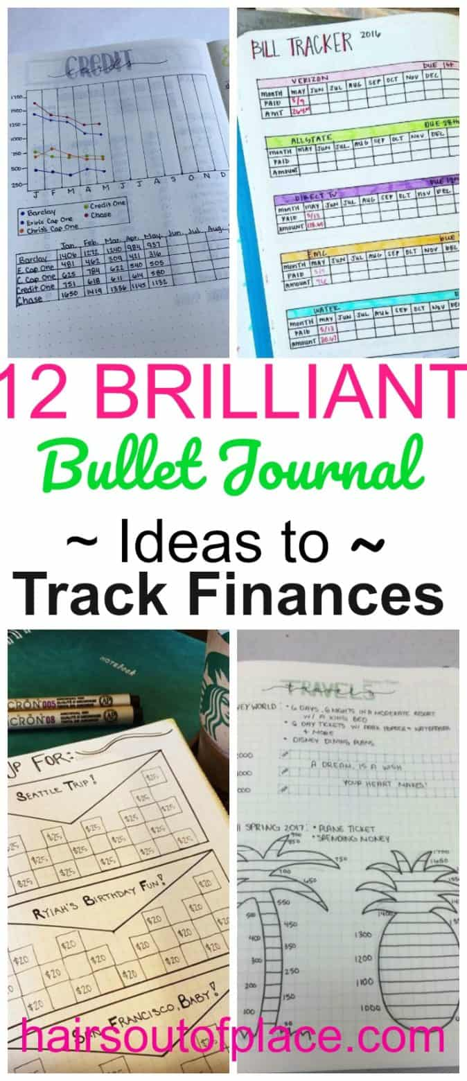 bullet journal personal finance hairs out of place