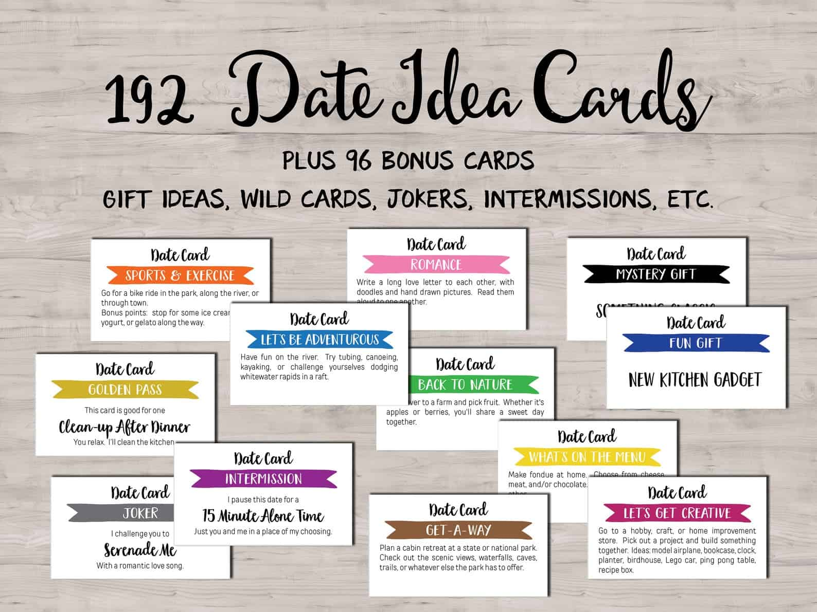 date night cards make cute valentines gifts for him