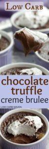 keto chocolate creme brulee