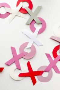 valentines paper garlands