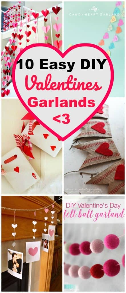 diy valentines garlands