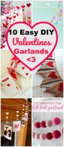 DIY Valentines Garlands & Banners