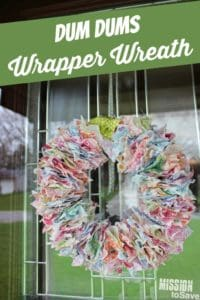 dum dum wrapper diy wreath