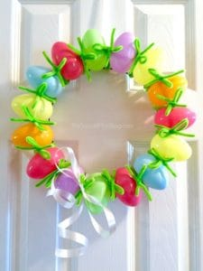 dollar store diy easter egg wreath