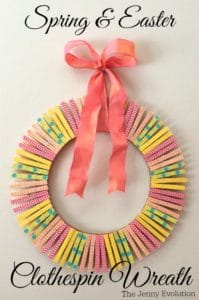 diy easter clothespin wreath