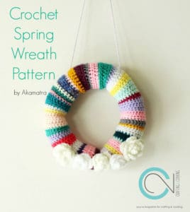 crochet spring wreath pattern