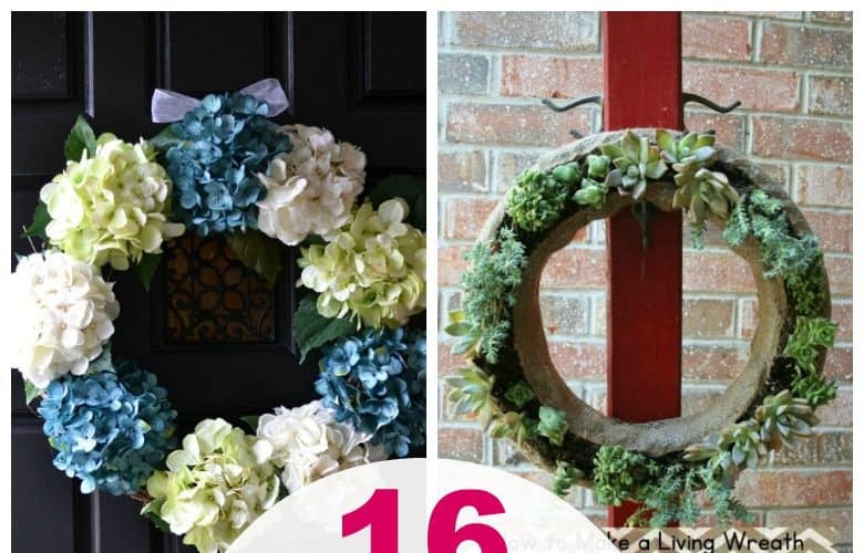 16 Easy DIY Front Door Spring Wreath Ideas