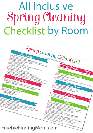 spring cleaning checklist printable