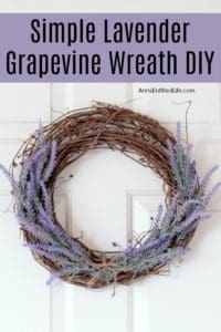 lavender grapevine wreath