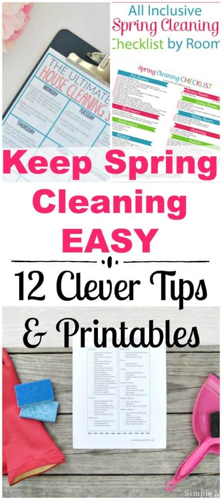 spring cleaning hacks and printables