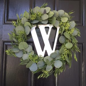 diy greenery spring wreath