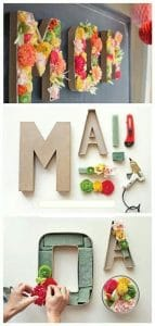 Mothers Day DIY floral wall art