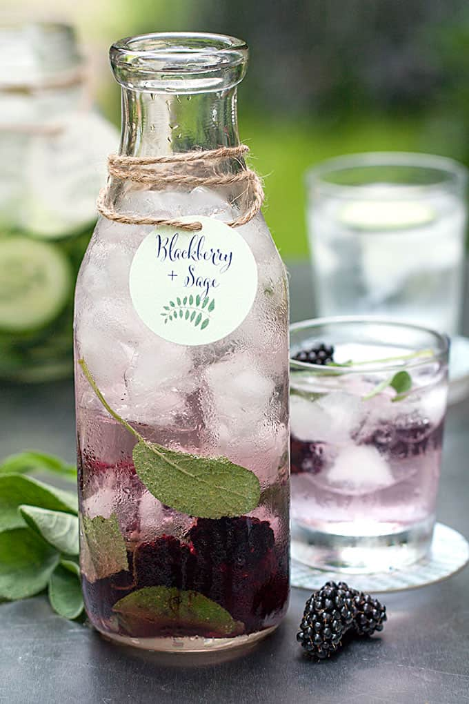 blackberry sage detox water