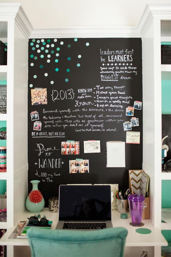 chalkboard wall message board ideas