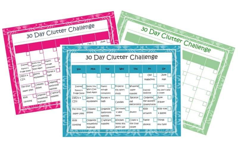 30 Days to an Organized Home + Calendar Printable