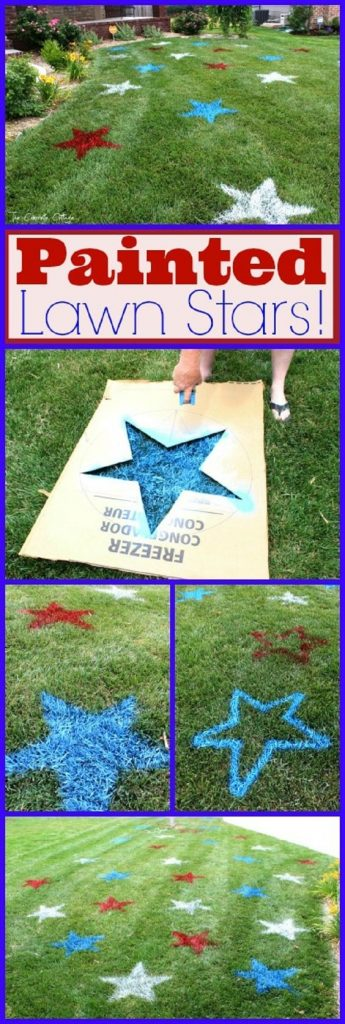 4th of july lawn stars