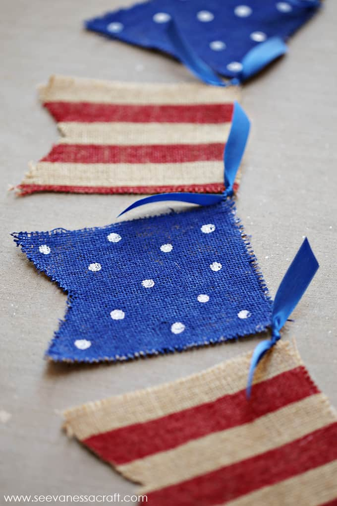 diy 4th of july burlap banner