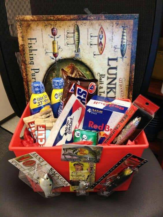 fishing gift basket ideas for dad