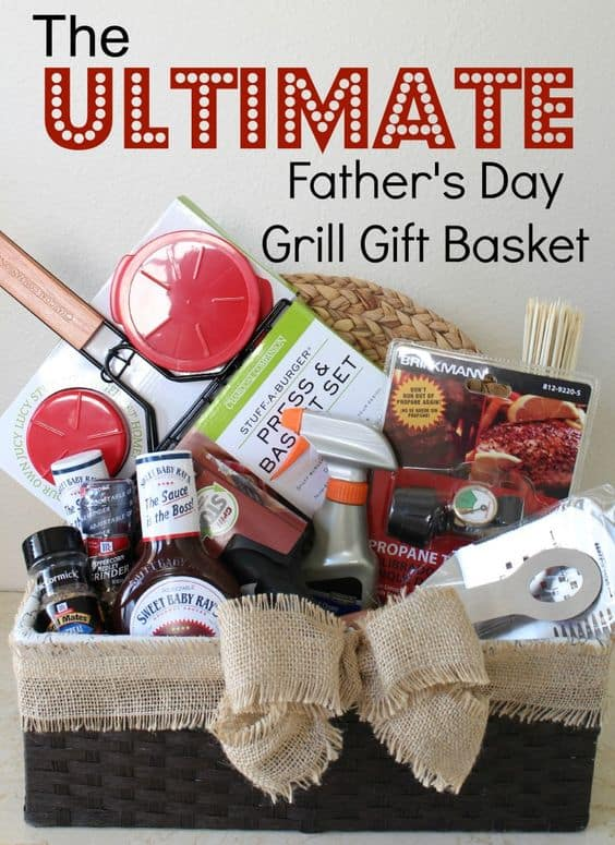 bbq gift basket idea for dad