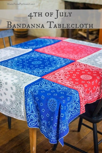 diy bandana tablecloth