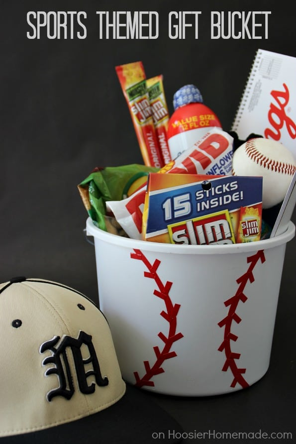 Sports gift basket ideas for dad