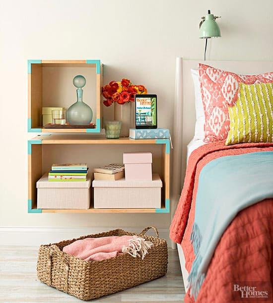 Bedroom wall cube ideas