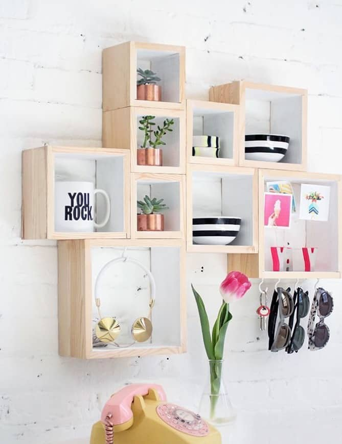 Cube wall storage ideas