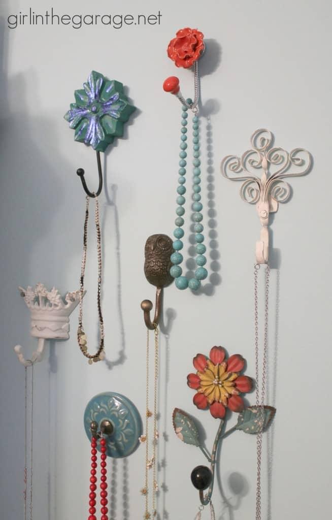 Bedroom wall hook ideas