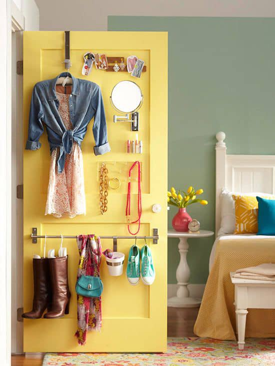 Bedroom Door organization ideas