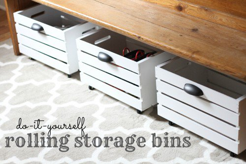 Under bed storage ideas