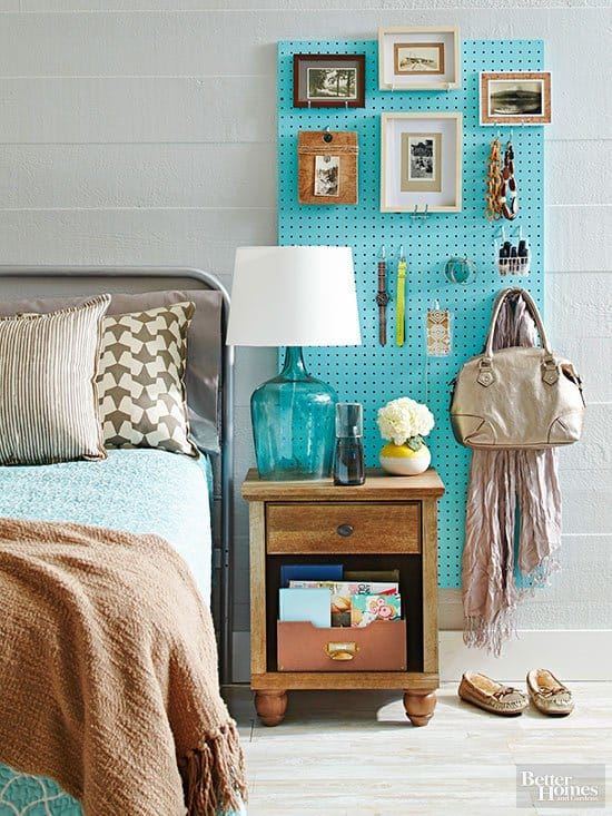 Bedroom wall storage ideas