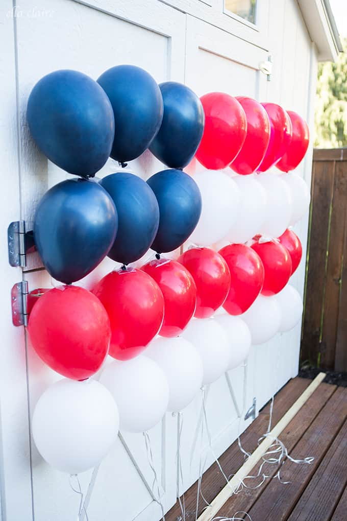 Easy DIY Balloon Flag