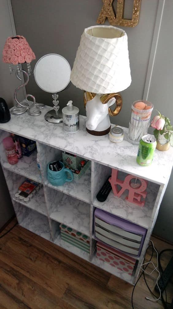 bedroom organization cube ideas