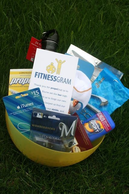 exercise gift basket idea for men
