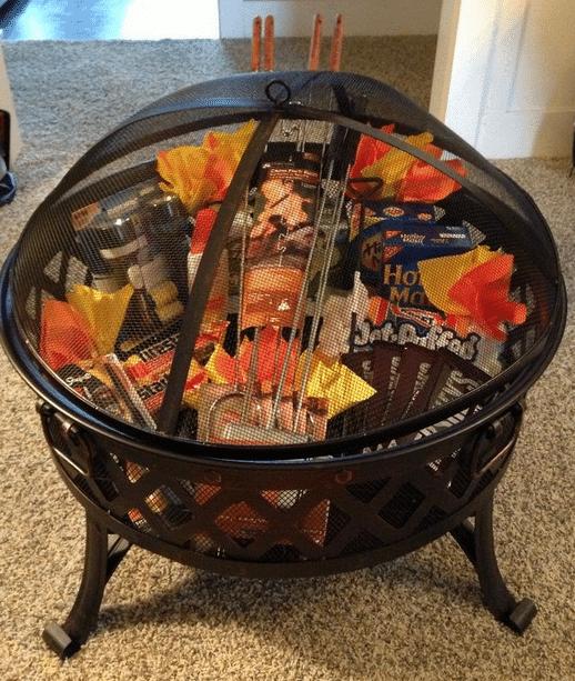 fire pit gift basket ideas