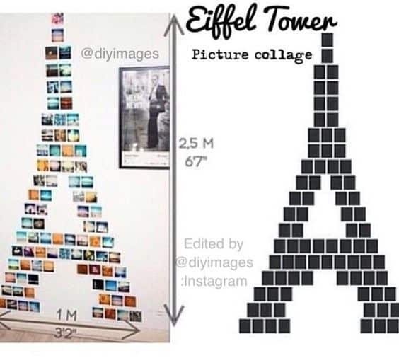 eiffel tower picture collage project