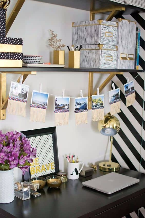 DIY photo garland idea