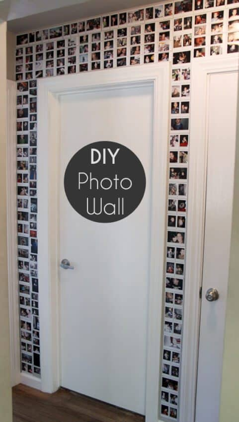 diy photo wall for teens