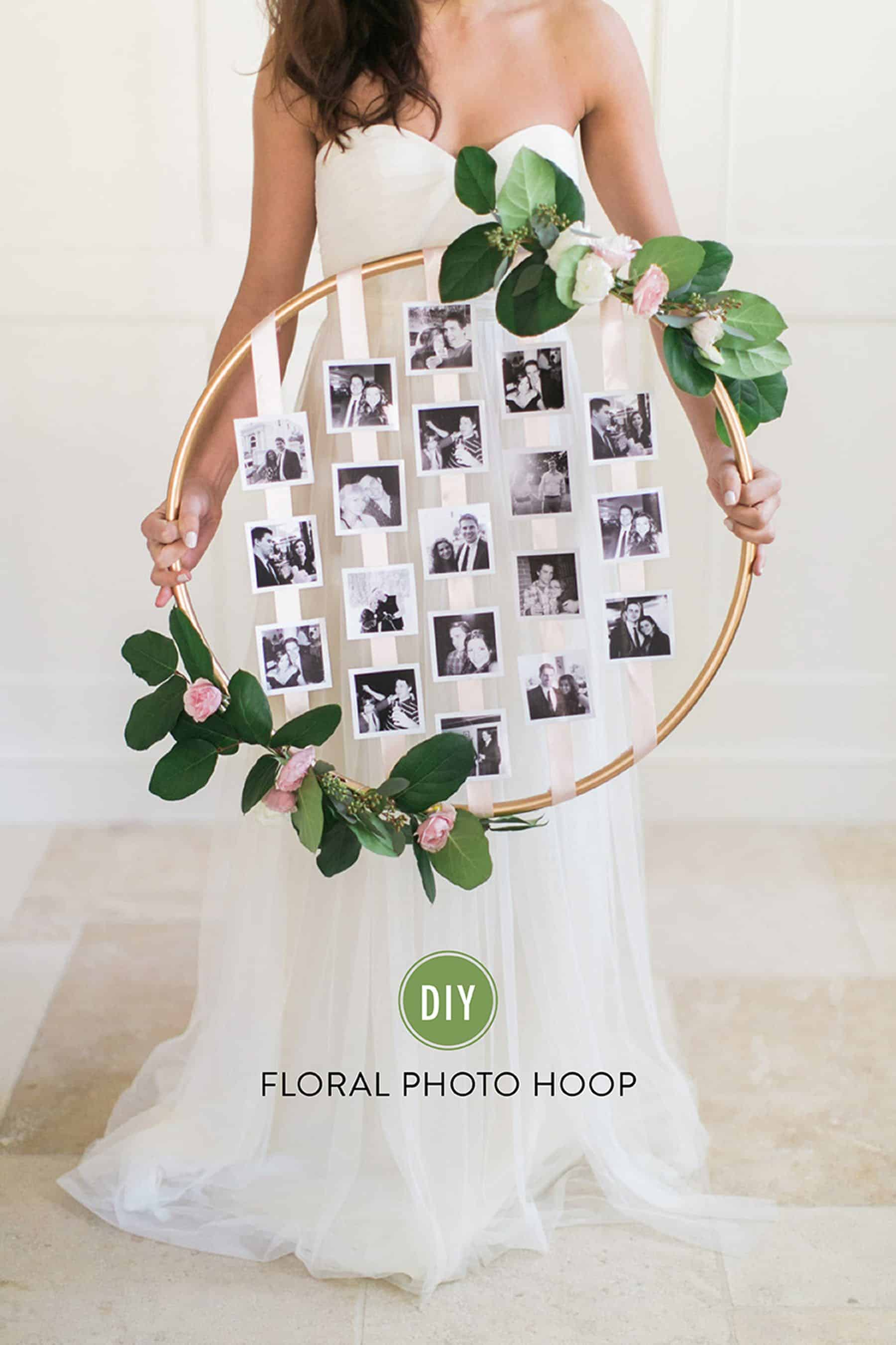 hula hoop DIY wreath photo
