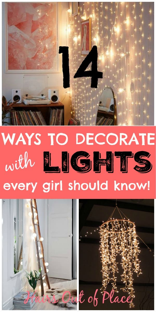 14 ways to decorate with lights in bedroom