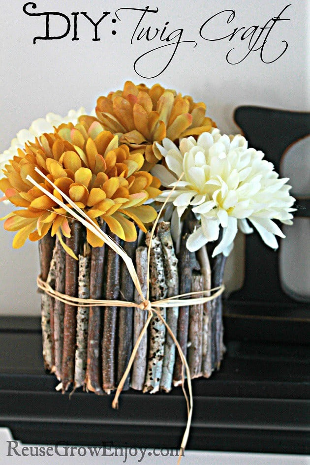rustic twig crafts for fall