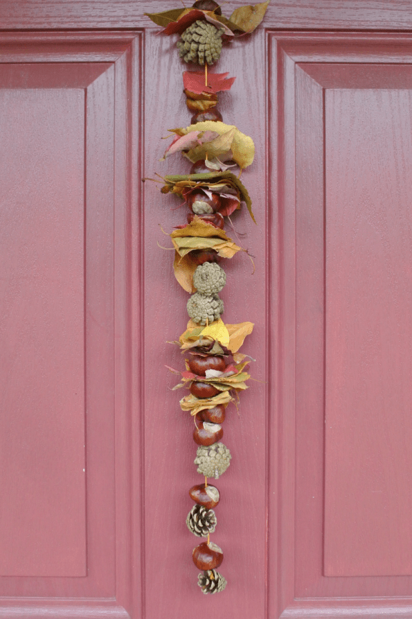 easy fall door garland