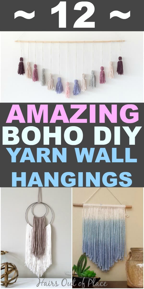 12 DIY boho yarn wall hangings