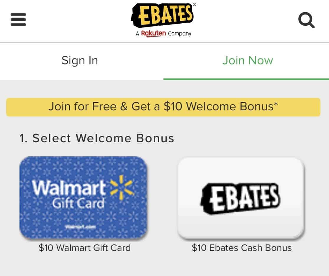 free gift cards app ebates