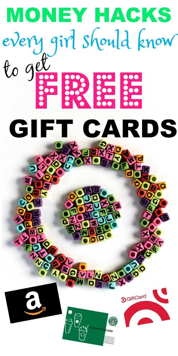 money hacks every girl should know to earn free gift cards