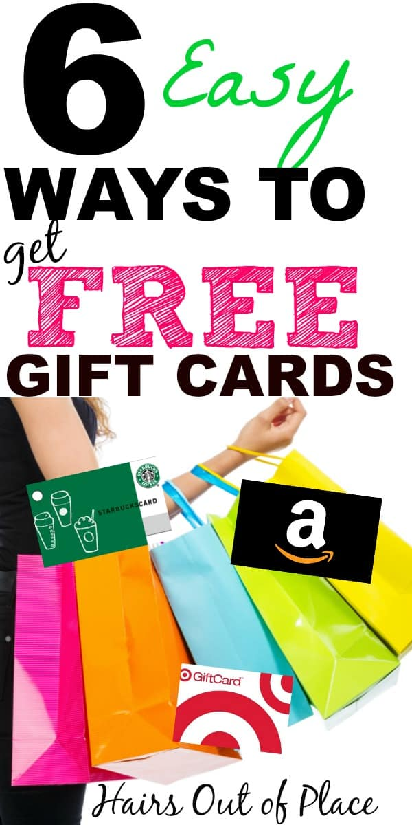 6 ways to earn free gift cards