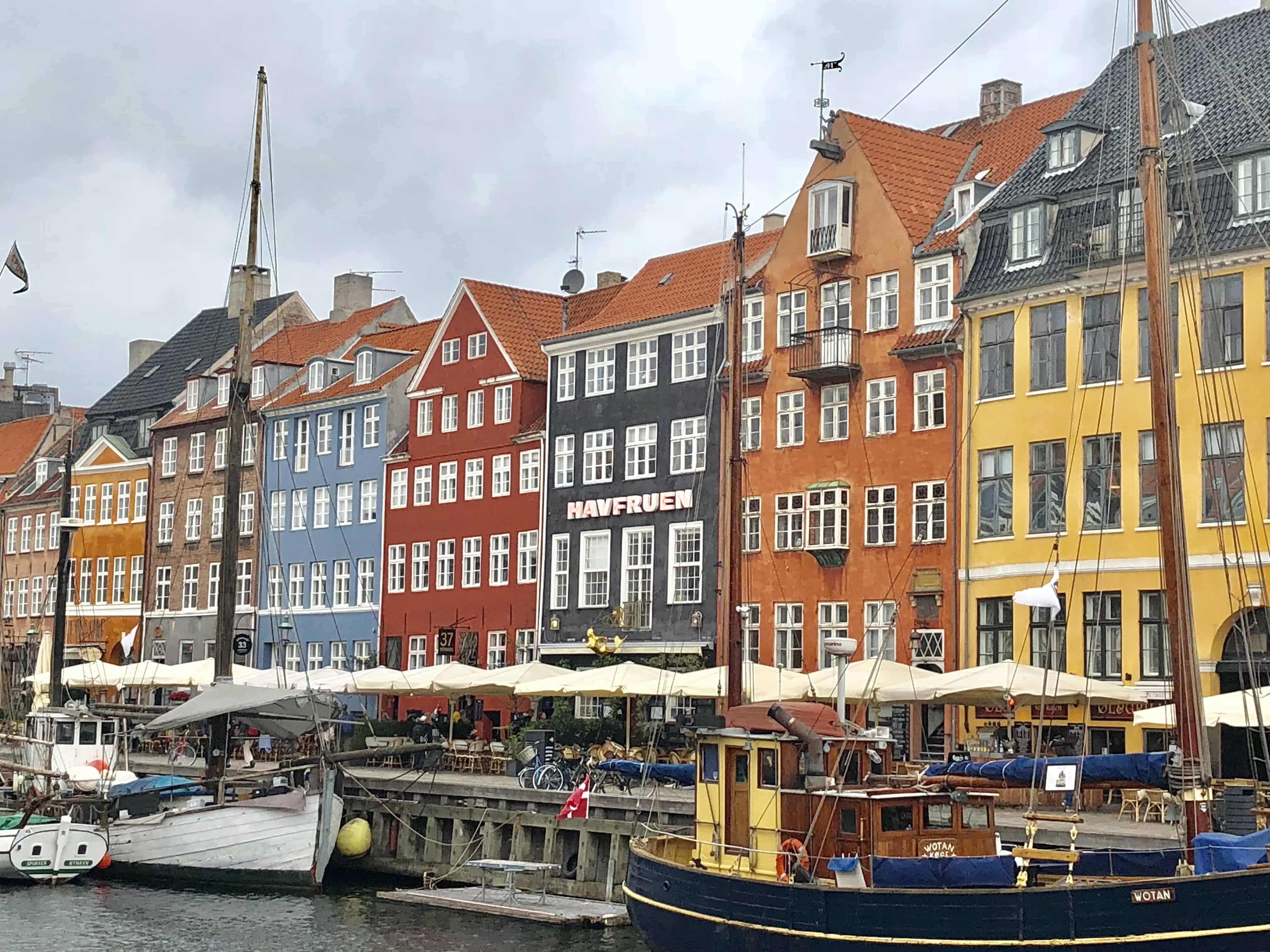 Nyhaven waterfront in Copenhagen